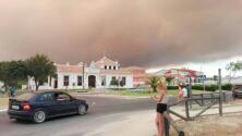 Las fotos del fuego desde Matalascañas