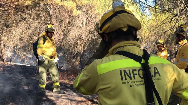 El incendio entre Gibraleón y El Portil, estabilizado