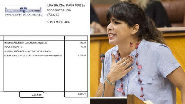 Teresa Rodríguez acusa a ABC de «falsear» los cobros extra por gasolina que se reflejan en sus nóminas