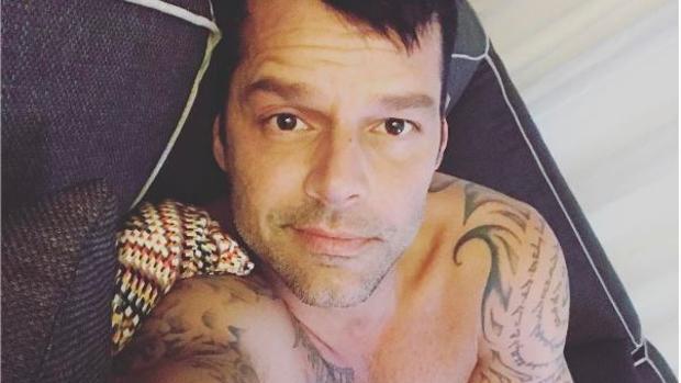 Ricky Martin, semidesnudo en Instagram