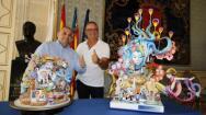 En imágenes: las Hogueras Oficiales que se plantarán este 2018 en el Ayuntamiento de Alicante