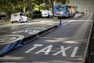 En imágenes: Los taxistas, de huelga
