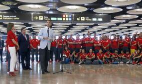 La despedida de los Reyes al equipo olímpico español de Río
