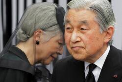 Imágenes del insólito anuncio de querer abdicar del Emperador Akihito