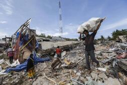 Los destrozos que ha causado en Indonesia el terremoto de 6,5