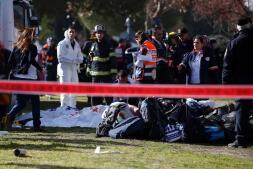 Las imágenes tras el atropello en Jerusalén en el que han muerto cuatro personas