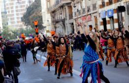 La cabalgata republicana de las Reinas Magas de Valencia, en imágenes