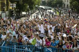 El Real Madrid celebra la Duedécima con su afición