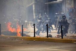 Disturbios y cargas policiales en la votación para la Asamblea Constituyente en Venezuela