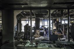 Así han quedado las instalaciones de la Ciudad de la Justicia de Valencia tras el incendio