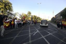 Despedida a una unidad de la Guardia Civil de Toledo que parte hacia Cataluña