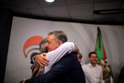 Las imágenes que deja la noche electoral en el País Vasco