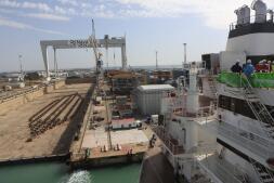 Las imágenes del estreno del buque Monte Udela en Puerto Real