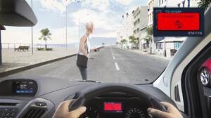 Descubre los vehículos comerciales que frenan automáticamente si no lo hace el conductor.mp4