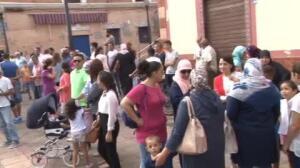 Miles de musulmanes protestan por la prohibición de importar corderos a Melilla