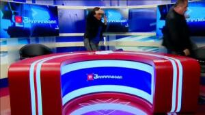 Debate electoral a golpes en la televisión de Georgia