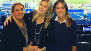 Carla Pereyra y Simeone dan la bienvenida a Francesca