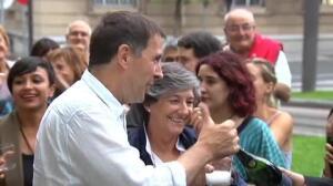 Otegi brinda por el escaño que EH Bildu gana al PNV