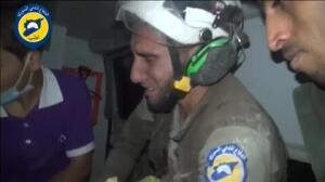El llanto de un Casco Blanco en Siria