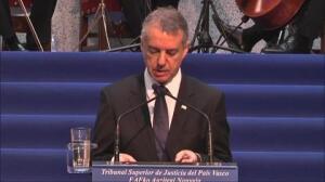 Urkullu reclama la transferencia de prisiones y una Administración de Justicia vasca