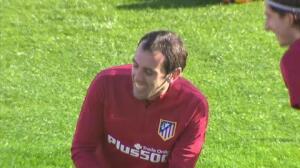 El Atlético de Madrid prepara el partido frente al Málaga