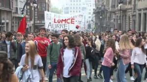 Manifestación en Bilbao contra de la LOMCE