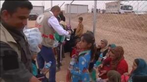 Campamentos improvisados en Irak y Siria son el destino para aquellos que han conseguido escapar de Mosul