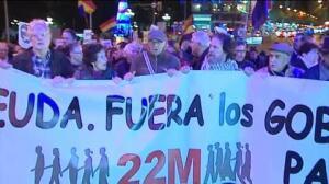 Las 'Marchas de la Dignidad' recorren la Gran Vía