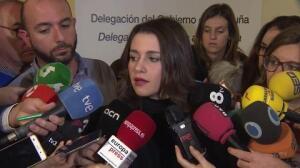 Arrimadas ve voluntad de diálogo del Gobierno con Cataluña