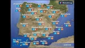 Previsión del tiempo para este jueves 19 de enero