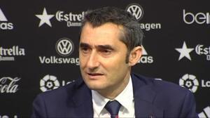 """Ernesto Valverde: """"Voro es el mayor activo que tiene el Valencia"""""""