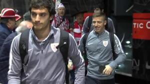Los jugadores del Athletic salen hacia Nicosia