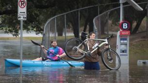 Las impresionantes imágenes de las inundaciones del huracán Harvey en Texas