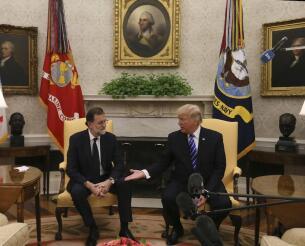 El encuentro entre Rajoy y Trump en la Casa Blanca, en imágenes