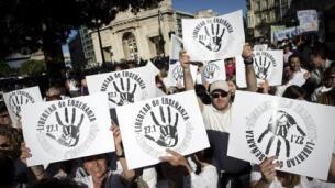 La manifestación en Valencia «por la libertad de enseñanza», en imágenes