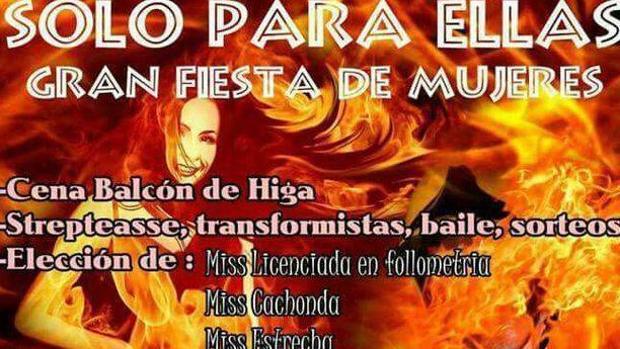 Polémica en Tenerife por una fiesta para elegir a Miss Cachonda y Miss Estrecha