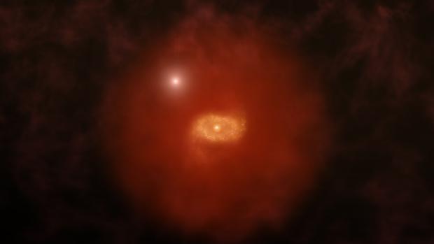 Observan dos galaxias similares a la Vía Láctea en los comienzos del Universo