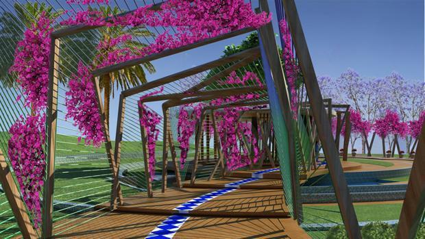 Muher proyecta un jardín Mediterráneo en China