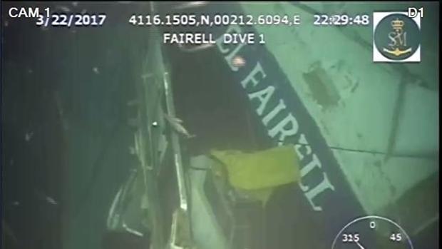 El robot de Salvamento Marítimo capta las primeras imágenes del pesquero hundido en Barcelona