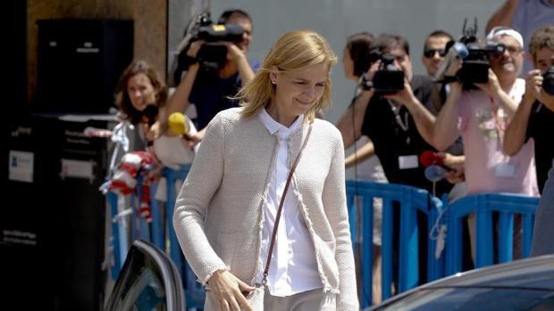 La Infanta Cristina pide a la Audiencia Provincial de Palma la devolución de 771.000 euros