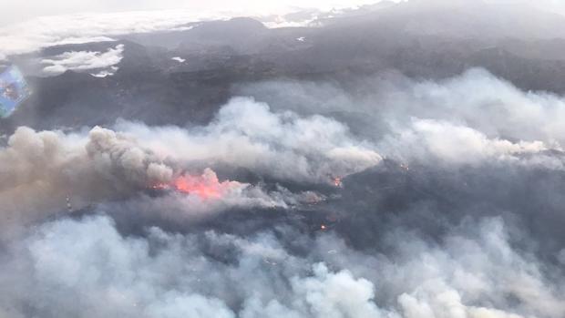 El tesón de los isleños lucha contra las llamas infernales de la cumbre de Gran Canaria