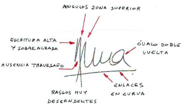 La firma de Anna Gabriel: «Gran irritabilidad oculta, sentimiento de superioridad y deseos de poder»