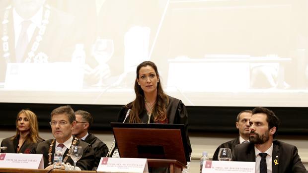 El presidente de TSJC y el fiscal superior plantan a Torrent tras un duro discurso sobre los «presos políticos»