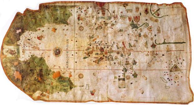 El mapa con el que España se adelantó al resto representando el Nuevo Mundo