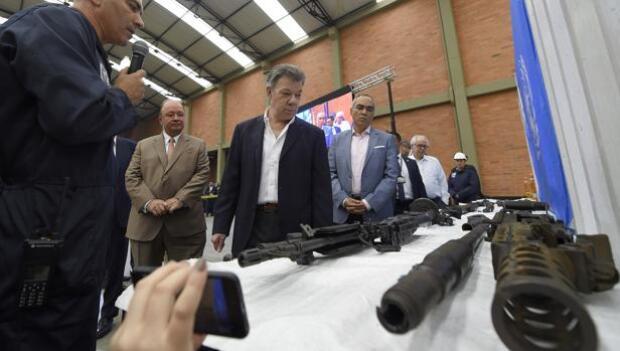 La ONU da por cerrado el desarme de las FARC y Santos se compromete en cumplir el acuerdo