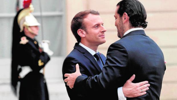 Hariri acuerda con Macron regresar al Líbano el miércoles