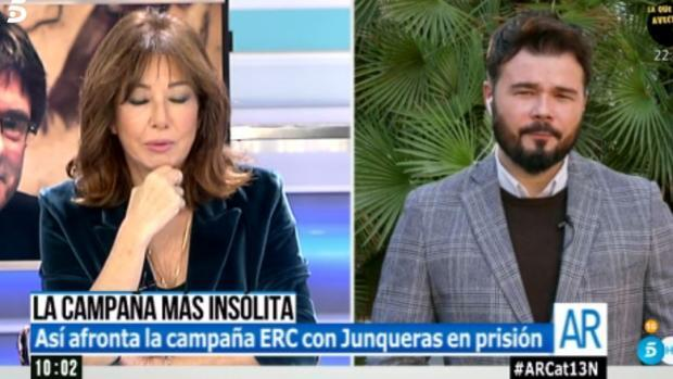 Ana Rosa le da una lección a Rufián: «Creo que conoce pocos regímenes opresivos»