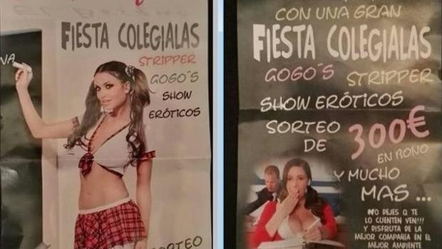 Denuncian una campaña de un prostíbulo de Cartaya que incita a la pedofilia