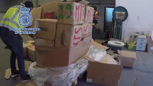 Golpe al narcotráfico en La Línea de la Concepción: decomisadas dos toneladas y media de hachís