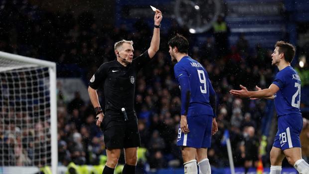 El 'palo' de Conte a Morata a raíz de su expulsión frente al Norwich